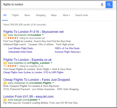 New SERP Without Sidebar
